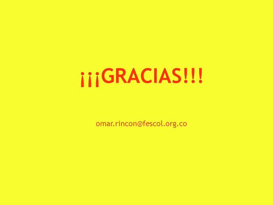 orincon@uniandes.edu.co 8 ¡¡¡GRACIAS!!! omar.rincon@fescol.org.co