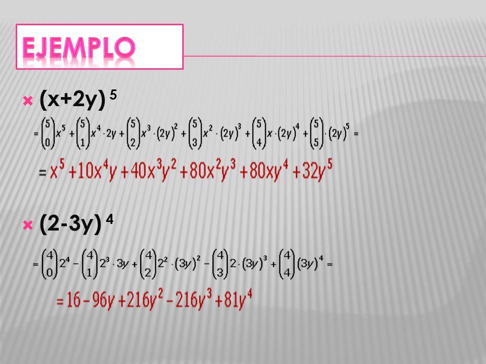 (x+2y) 5 (2-3y) 4