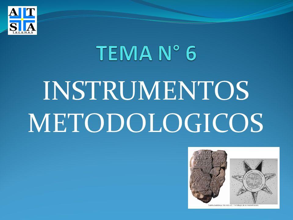 INSTRUMENTOS METODOLOGICOS