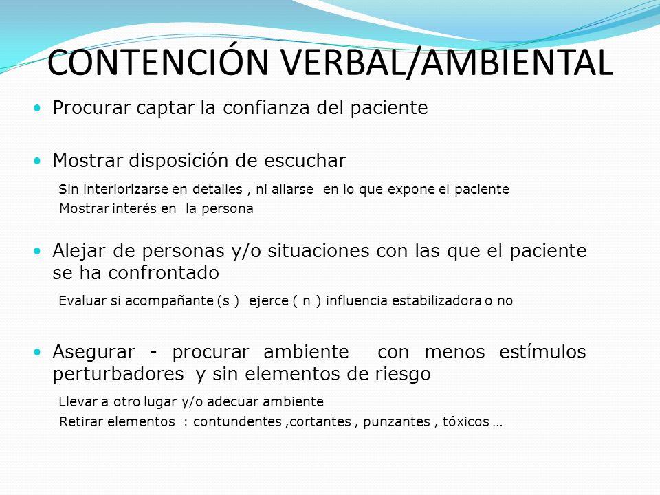 Procurar captar la confianza del paciente Mostrar disposición de escuchar Sin interiorizarse en detalles, ni aliarse en lo que expone el paciente Most