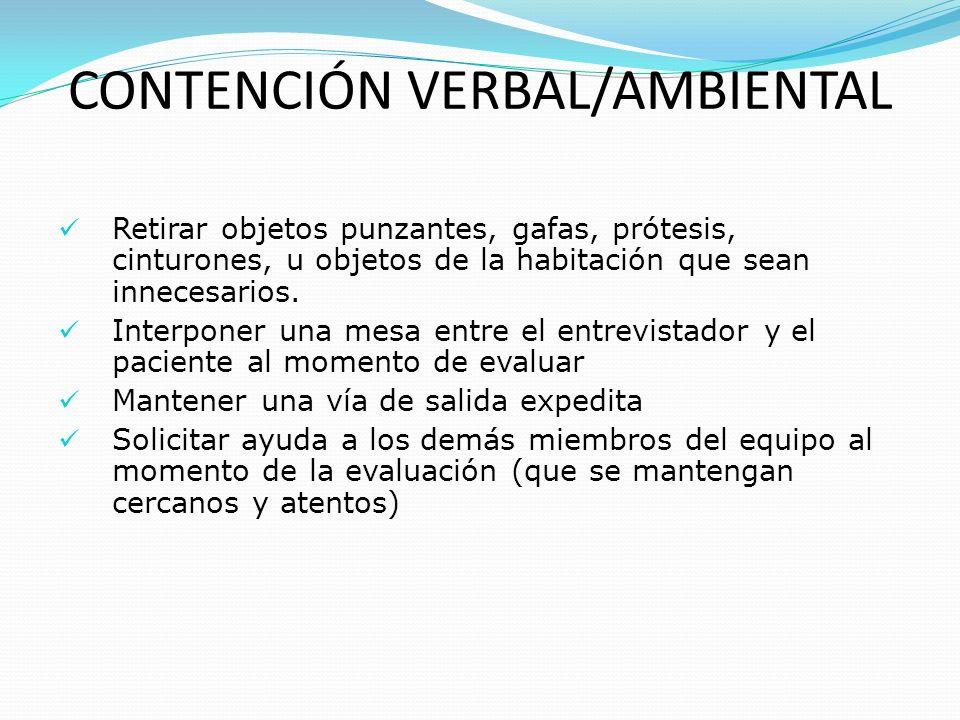 CONTENCIÓN MECÁNICA, PROCEDIMIENTO SEGURIDAD GENERAL DE LA SUJECIÓN Mantener al paciente en posición fisiológica No comprimir mamas, ni abdomen Utilizar fijaciones - nudos que no se desplacen Permitir – mantener - asegurar irrigación distal No emplear sujeción y/o comprimir zona hombro - axila ( compresión plexo braquial ), excepto se cuente con dispositivo ad-hoc Verificar con frecuencia que la sujeción- inmovilización mantenga condiciones de seguridad y comodidad