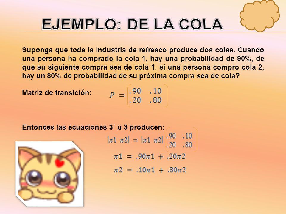 En forma matricial, la ecuación 3´ se puede escribir: 3´) El sistema de ecuación que especifica la ecuación 3 tiene un numero infinito de soluciones,