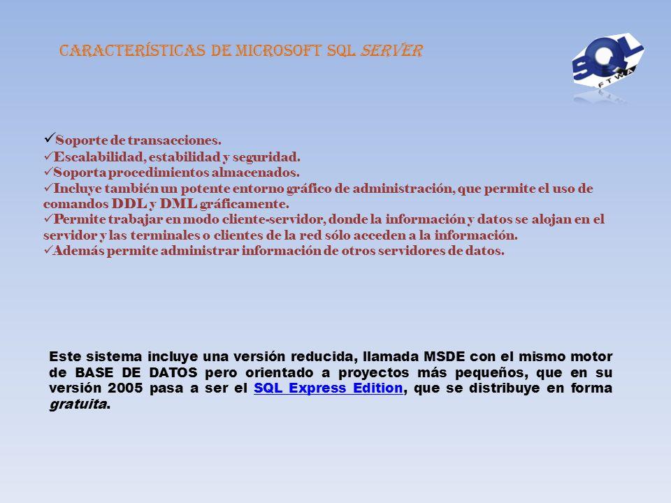 SQL SERVER Otros lenguajes Microsoft SQL Server es un sistema de gestión de bases de datos relacionales basado en el lenguaje transact -SQL y específi