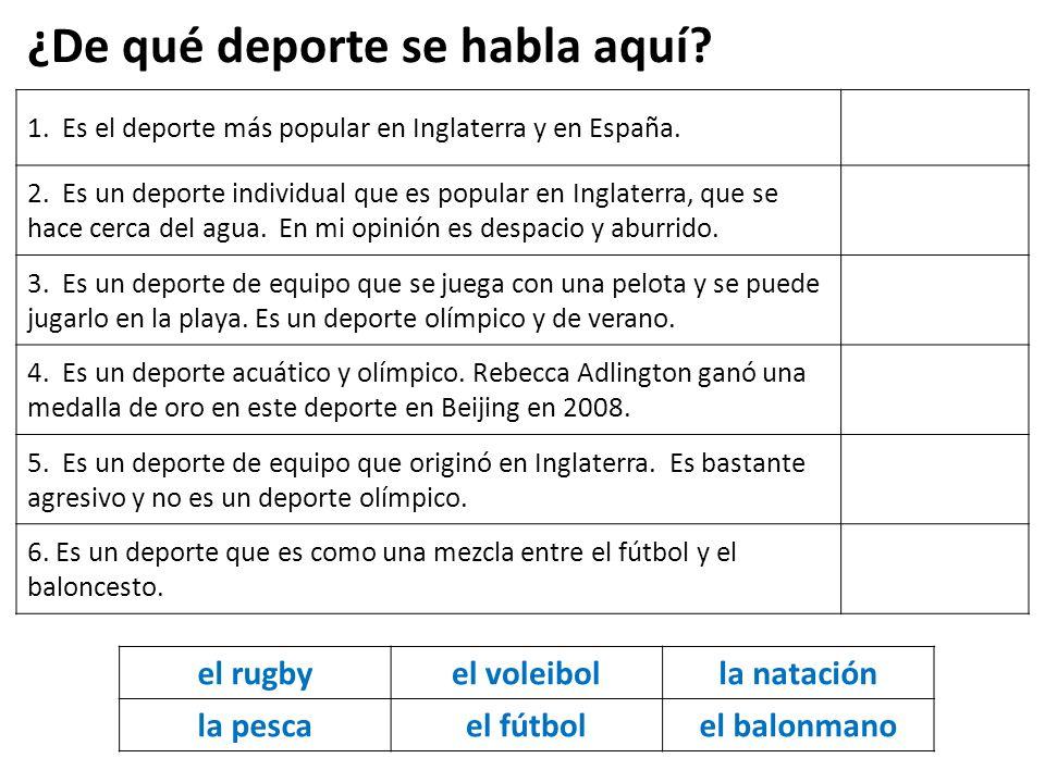 1.Es el deporte más popular en Inglaterra y en España.