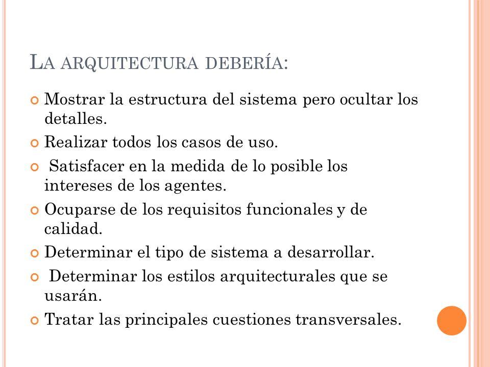 A RQUITECTURA LÓGICA DE LA APLICACIÓN Para ello emplearemos en la medida de lo posible un conjunto de estilos arquitecturales conocidos.