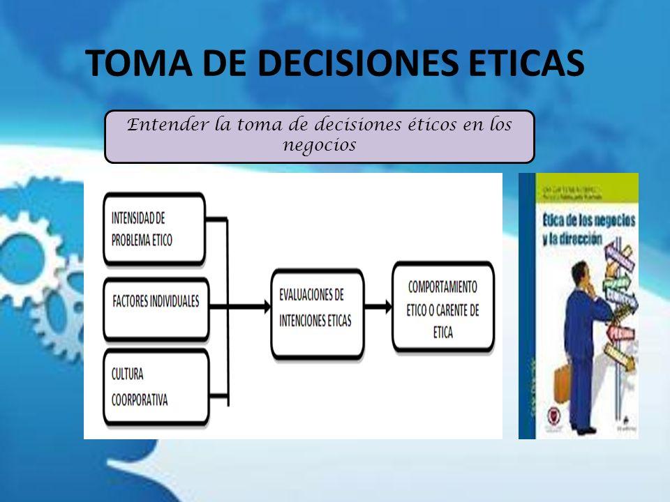 TOMA DE DECISIONES ETICAS Entender la toma de decisiones éticos en los negocios