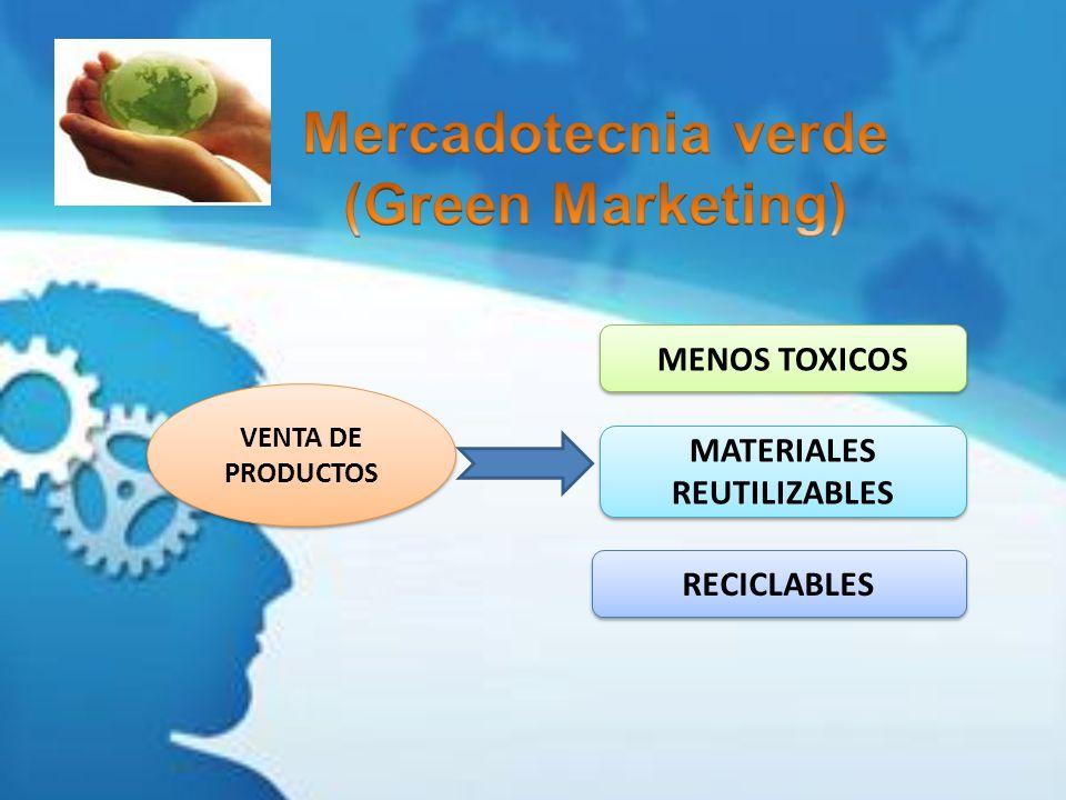 VENTA DE PRODUCTOS MENOS TOXICOS MATERIALES REUTILIZABLES RECICLABLES