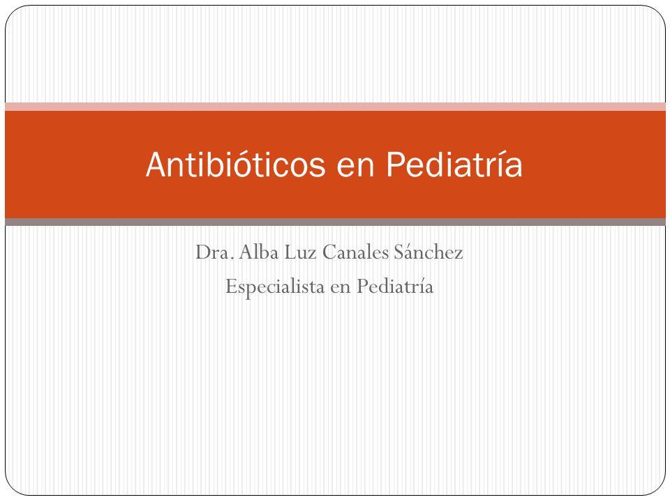 Dra. Alba Luz Canales Sánchez Especialista en Pediatría Antibióticos en Pediatría