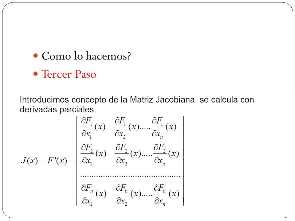 Recordando La matriz jacobiana es una matriz formada por las derivadas parciales de primer orden de una función.