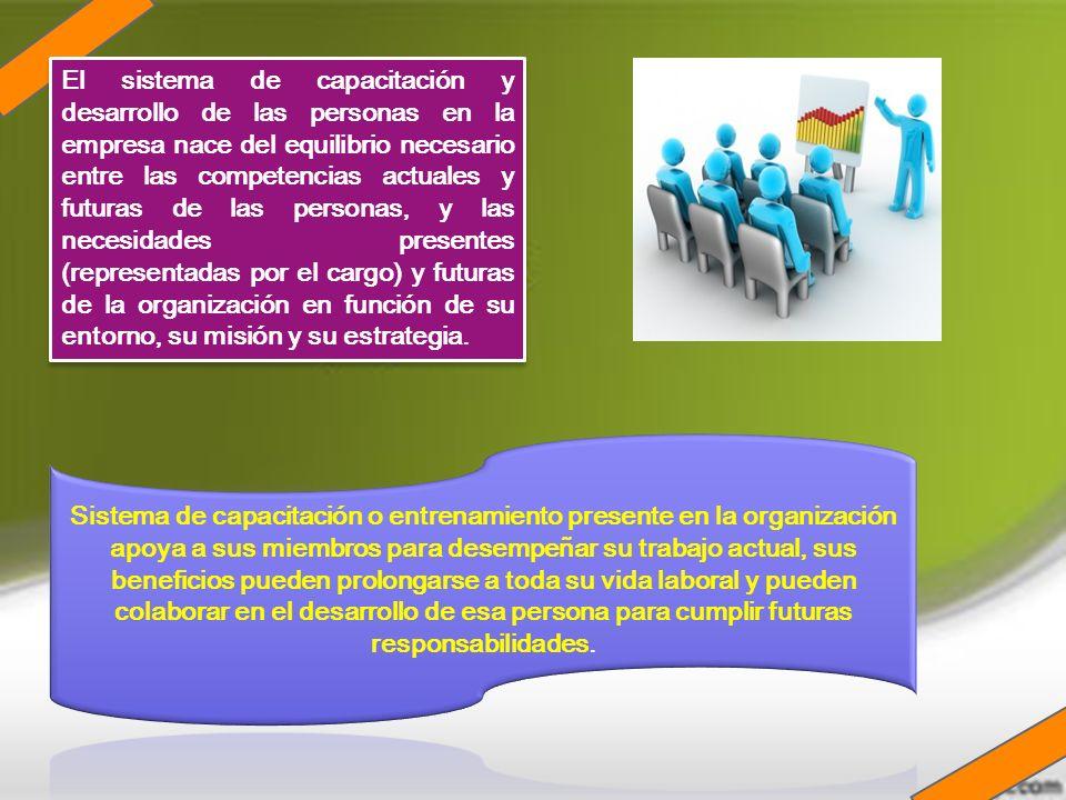 El sistema de capacitación y desarrollo de las personas en la empresa nace del equilibrio necesario entre las competencias actuales y futuras de las p