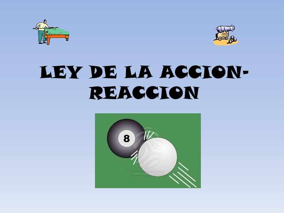 LEY DE LA ACCION- REACCION