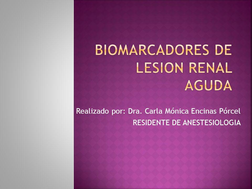 Biomarcadores para detección temprana de AKI es un área de intensa investigación.