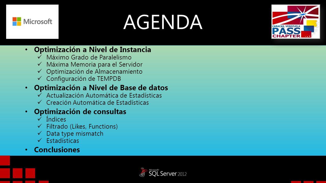 DEMO Actualización Automática de Estadísticas Creación Automática de Estadísticas