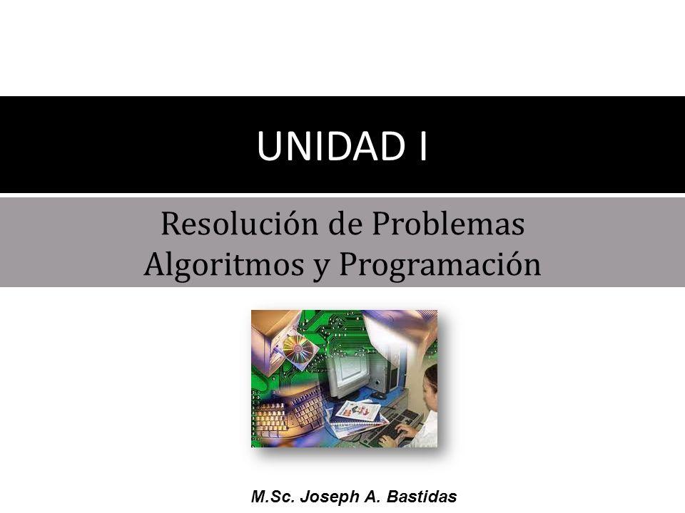 M.Sc.Joseph A. Bastidas TEMA 1 Terminología Básica TEMA 2 Etapas en la solución de problemas.
