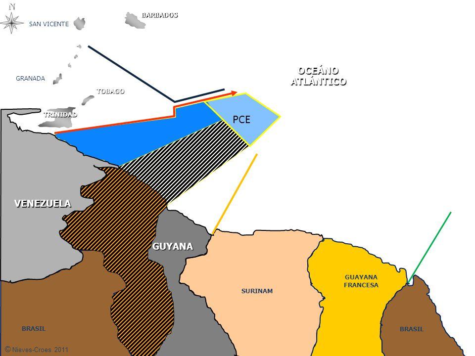 Plataforma Continental Tierra domina el mar Permitirle a Guyana esas concesiones gravísima amputación de nuestra Fachada Atlántica Guyana no sólo desconoce la reclamación sino pretende delimitar nuestro territorio con método de la equidistancia.