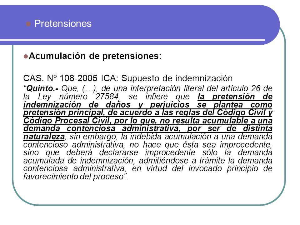Acumulación de pretensiones: Conexidad Sentencia de Casación Nº 474-2008 Se declaró fundado el recurso de casación, al considerar que las instancias de mérito no calificaron debidamente la demanda presentada.
