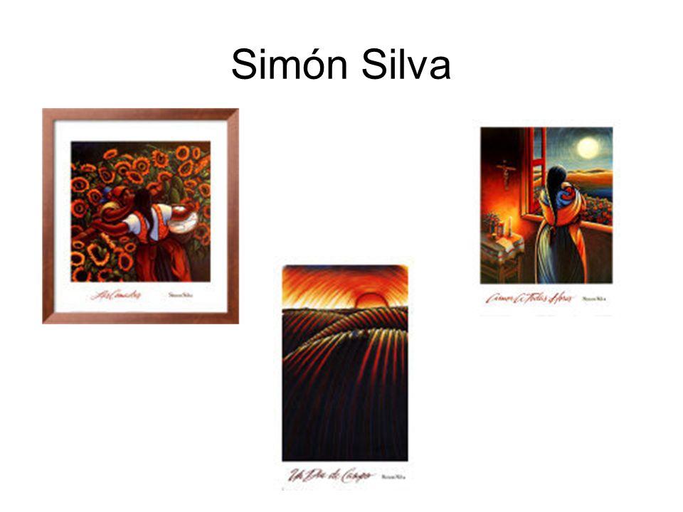 El pintor méxico-americano Simón Silva nació en 1961 en México.