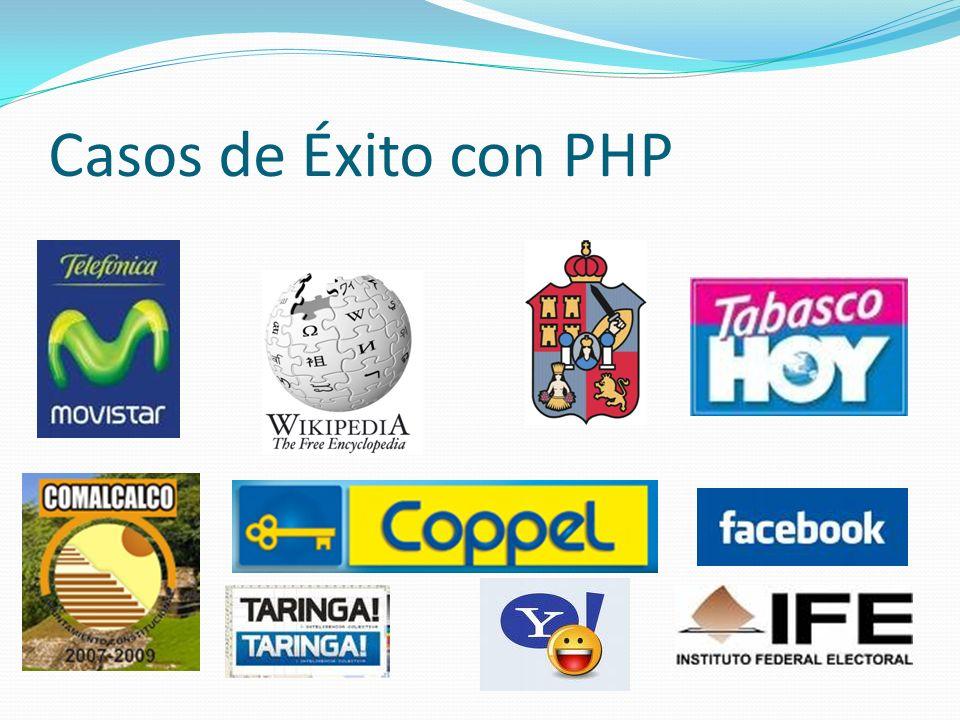 Casos de Éxito con PHP