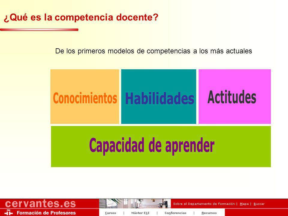 ¿Qué es la competencia docente? De los primeros modelos de competencias a los más actuales
