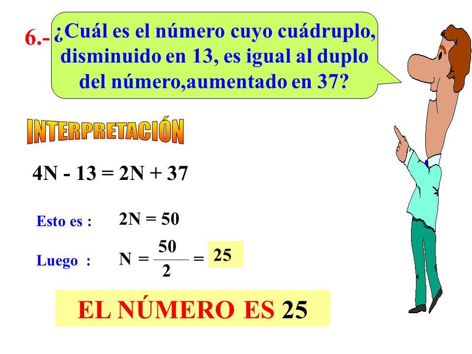 5.- A un número x se le agrega p; dicha suma se multiplica por q y el resultado se resta de n. ¿Cuál es la escritura correspondiente al enunciado? (x