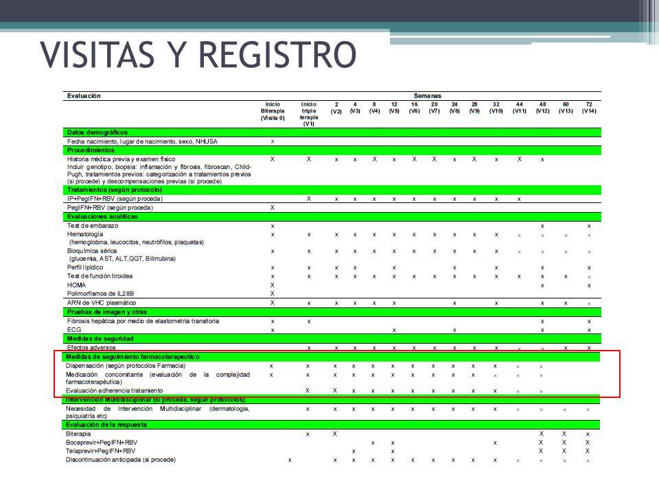 VISITAS Y REGISTRO