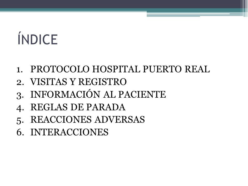 REGLAS DE PARADA Evitar la administración innecesaria de estos medicamentos con RAMs importantes asociadas cuando la probabilidad de RVS es baja.