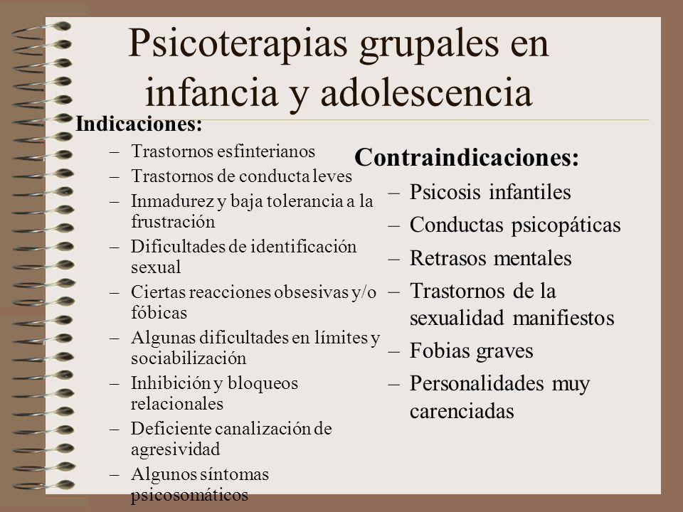 Caracteres estructurales del grupo en psicoterapias infancia Fenómeno transicional FamiliaSociedad Problema desarrollo Psicosocial en infancia Grupo O