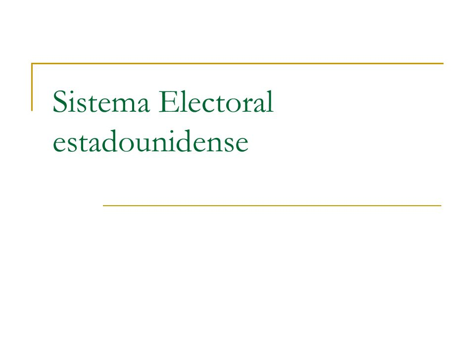 Sistema Electoral estadounidense
