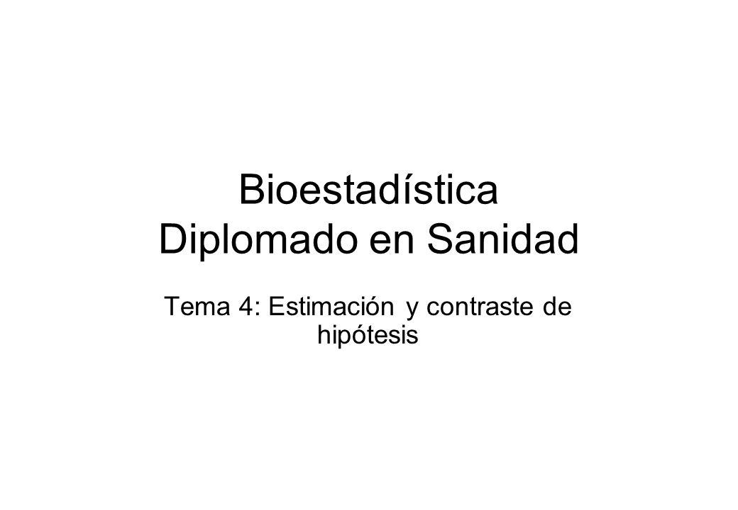Bioestadística Diplomado en Sanidad Tema 4: Estimación y contraste de hipótesis