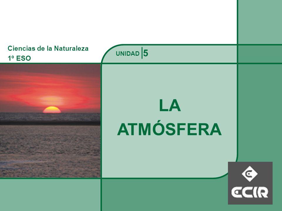 Ciencias de la Naturaleza 1º ESO LA ATMÓSFERA La Atmósfera UNIDAD La atmósfera terrestre es la envoltura gaseosa que rodea al planeta y es retenida por su atracción gravitatoria.