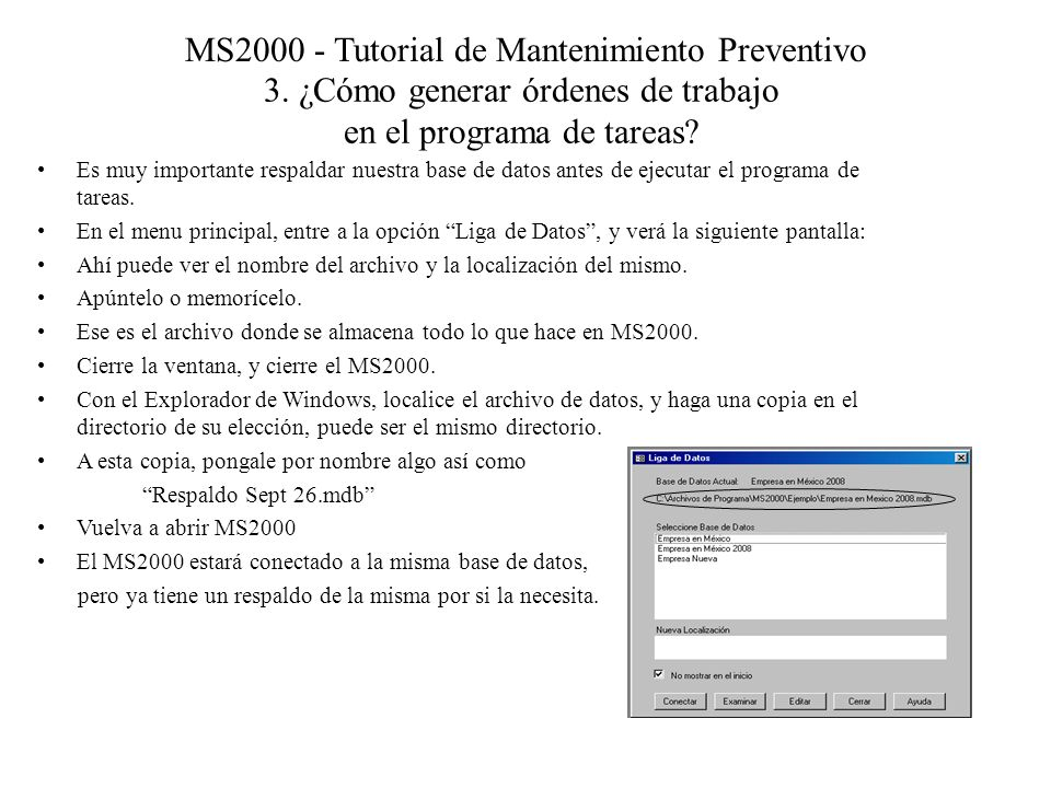 MS2000 - Tutorial de Mantenimiento Preventivo 3.
