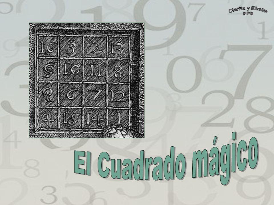 Un cuadrado mágico es la disposición de una serie de números enteros en un cuadrado o matriz de forma tal que la suma de los números por columnas, filas y diagonales principales sea la misma, la constante mágica.