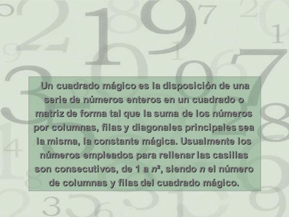 Cuadrado Mágico en un tablero de ajedrez Este cuadrado mágico de orden 8, está formado por los números del 1 al 64.