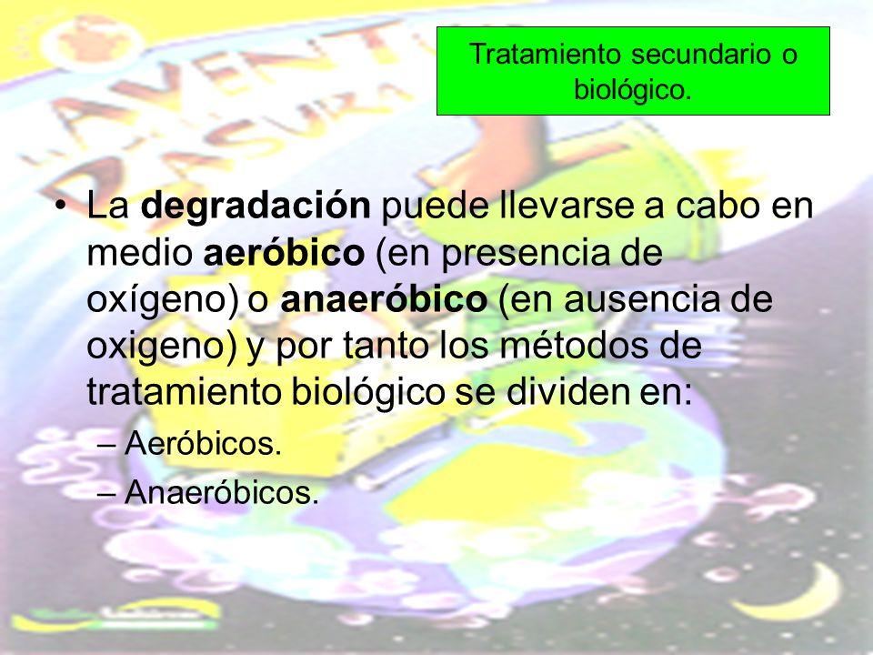 La degradación puede llevarse a cabo en medio aeróbico (en presencia de oxígeno) o anaeróbico (en ausencia de oxigeno) y por tanto los métodos de trat