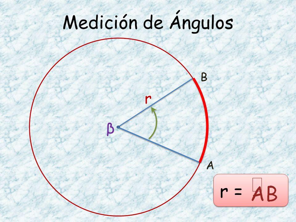 Medición de Ángulos A B β r r =