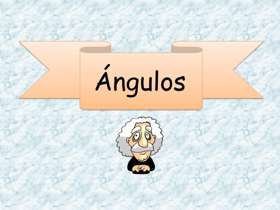 Es la unión de dos semirrectas con el mismo origen Notación de un ángulo: Un angulo se nota con letras mayusculas, para el lado inicial, el vertice y el lado final.