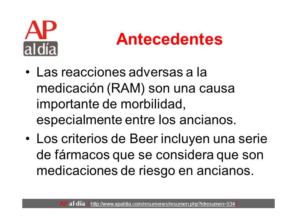 ¿Qué fármacos son los principales responsables de las reacciones adversas a medicamentos en ancianos.