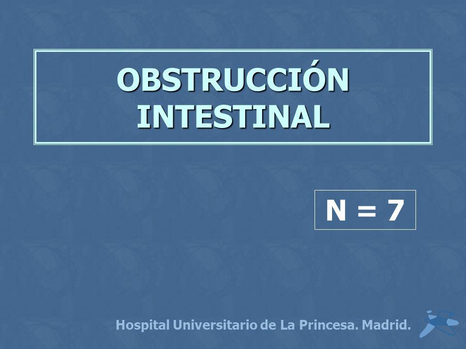 OBSTRUCCIÓN INTESTINAL Hospital Universitario de La Princesa. Madrid. N = 7