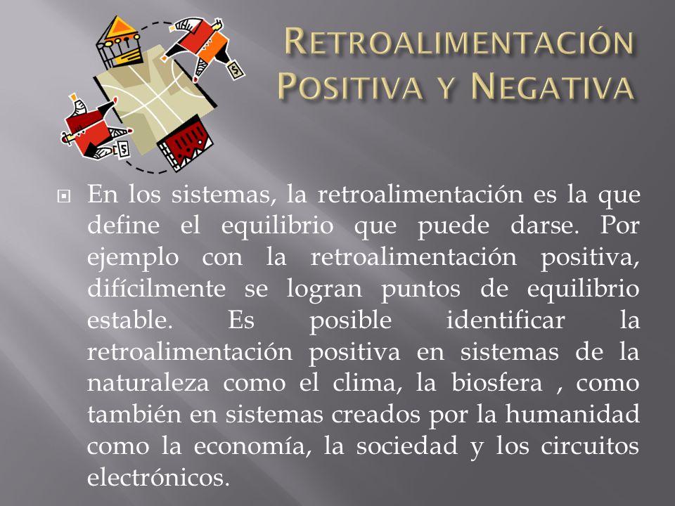 La retroalimentación positiva es uno de los mecanismos de retroalimentación por el cual los efectos o salidas de un sistema causan efectos acumulativo