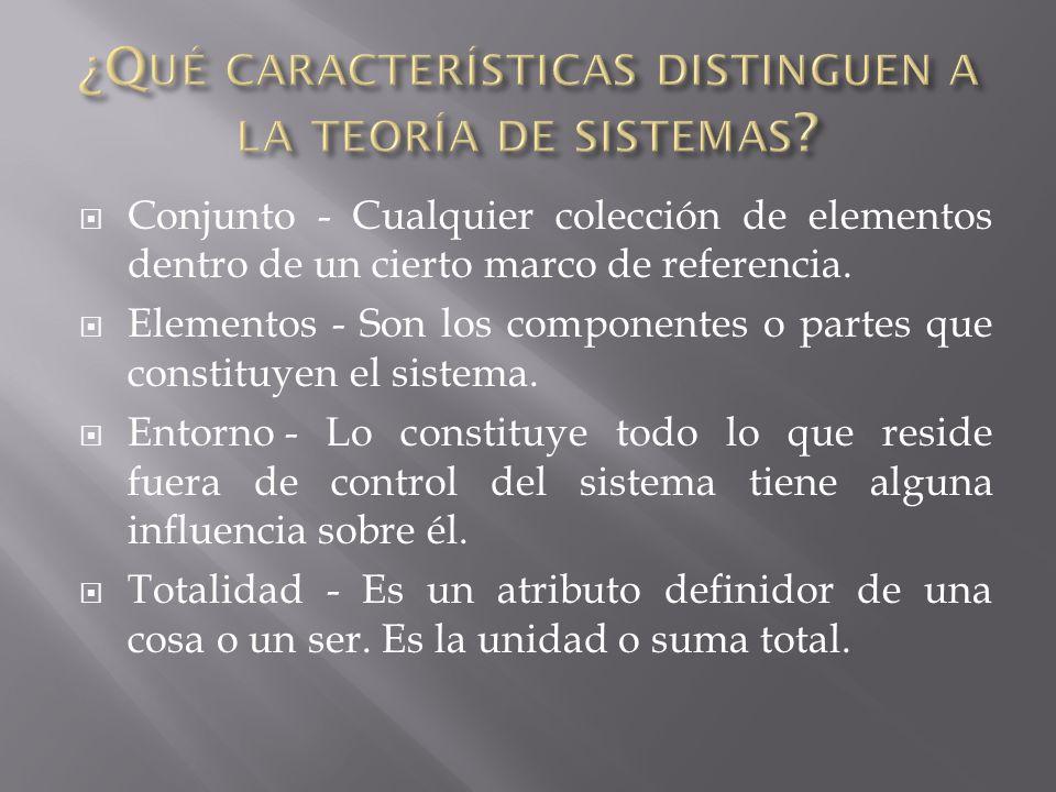 Jerarquía - Implica la introducción de sistemas en otros sistemas. Diferenciación - Las unidades especializadas desempeñan funciones especializadas. D