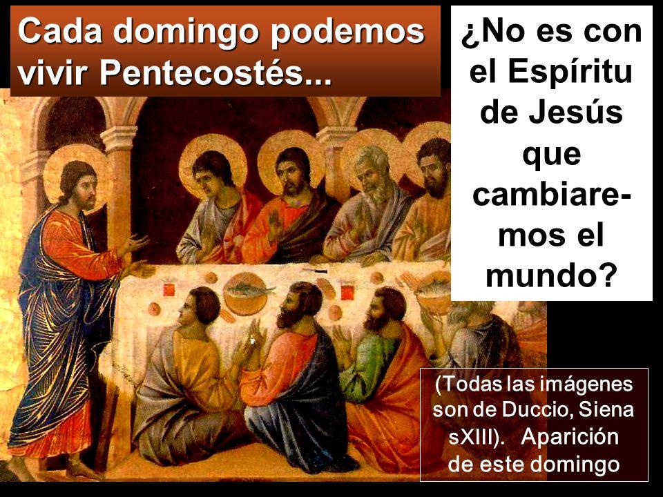 Jn 20,19-23 Al anochecer de aquel mismo día, que era domingo Sala alta donde se dice que fué Pentecostés