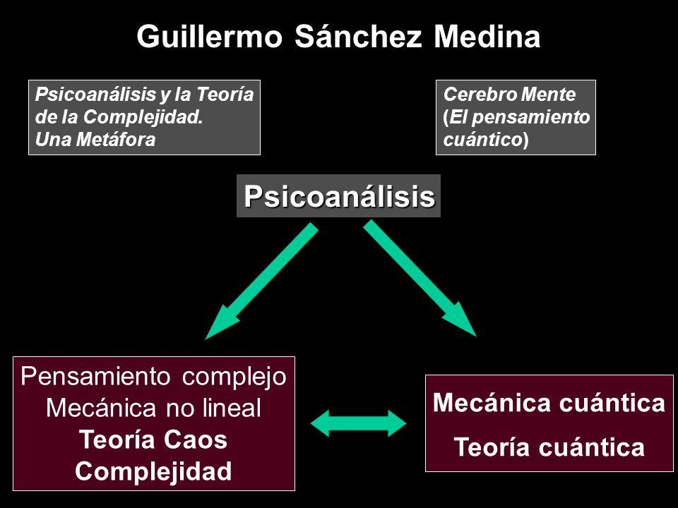 Guillermo Sánchez Medina Psicoanálisis Pensamiento complejo Mecánica no lineal Teoría Caos Complejidad Mecánica cuántica Teoría cuántica Psicoanálisis