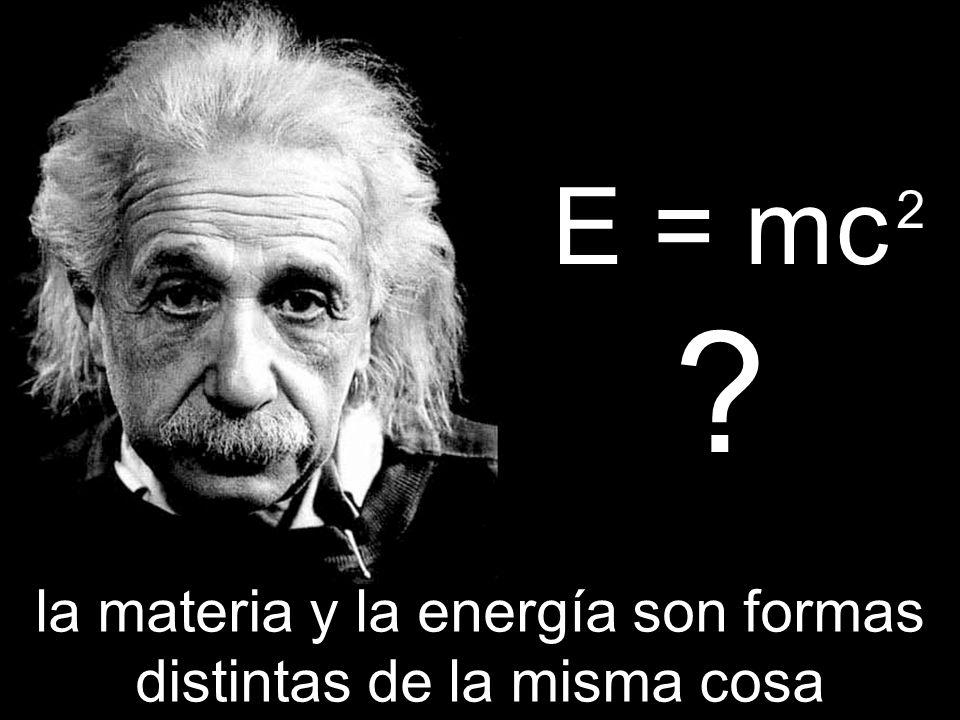 E = mc ? la materia y la energía son formas distintas de la misma cosa 2