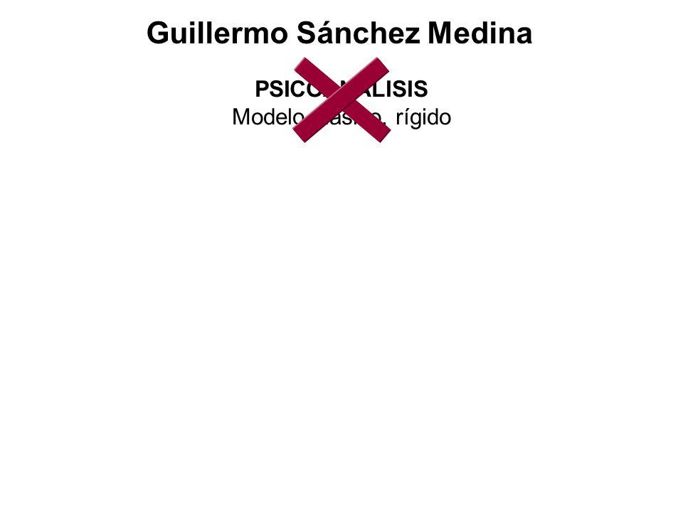 Guillermo Sánchez Medina PSICOANÁLISIS Modelo clásico, rígido