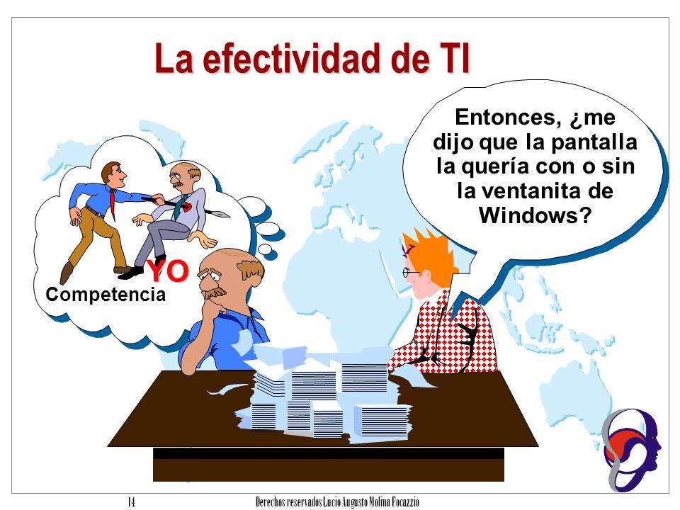 Derechos reservados Lucio Augusto Molina Focazzio 13 Origen del Problema Planeación Análisis Diseño Programación Mantenimiento 0 20 40 60 80 100 Recursos dedicados Impacto de errores