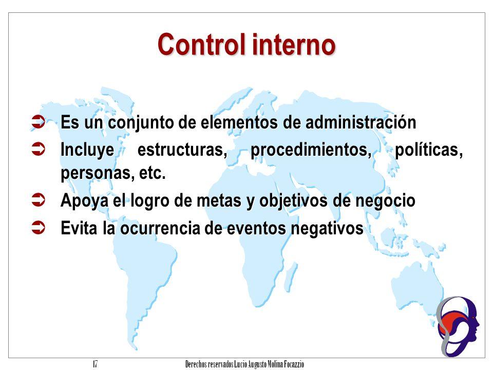 Derechos reservados Lucio Augusto Molina Focazzio 16 Agenda Introducción Problemática Cómo reducir el problema