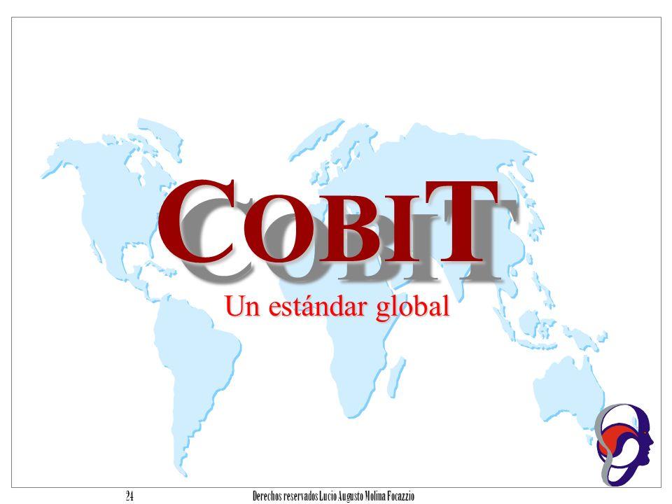 Derechos reservados Lucio Augusto Molina Focazzio 23 Agenda Introducción Problemática Cómo reducir el problema Cobit introducción