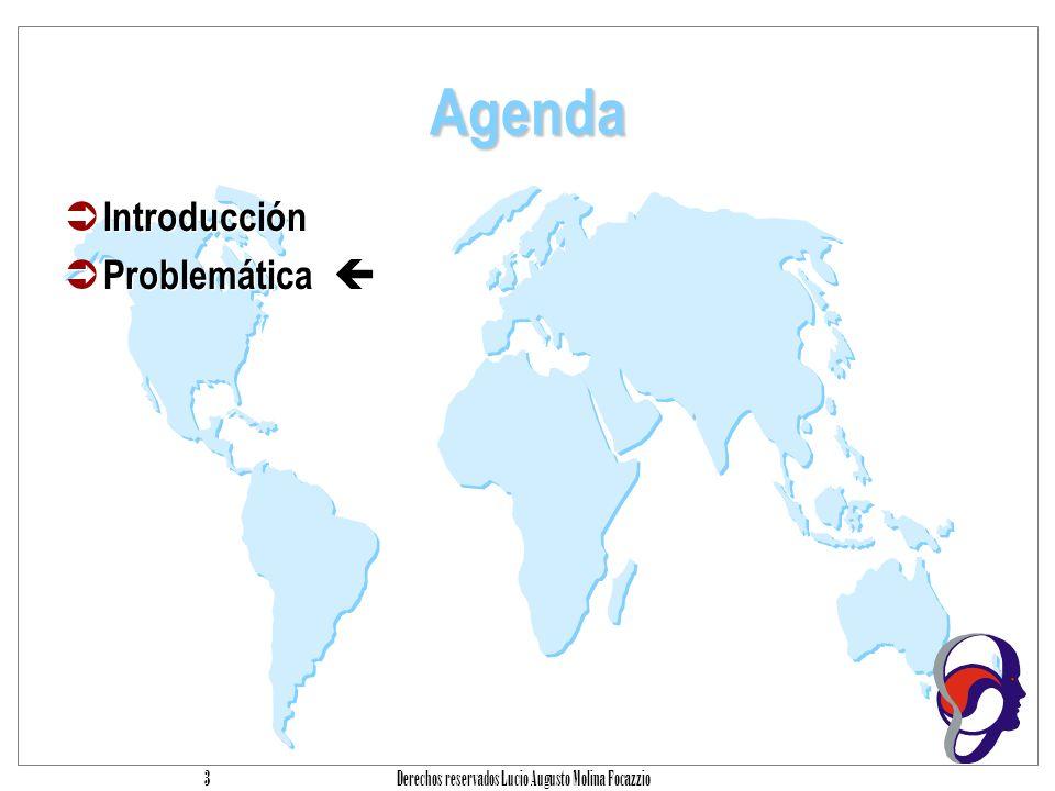 Derechos reservados Lucio Augusto Molina Focazzio 3 Agenda Introducción Problemática
