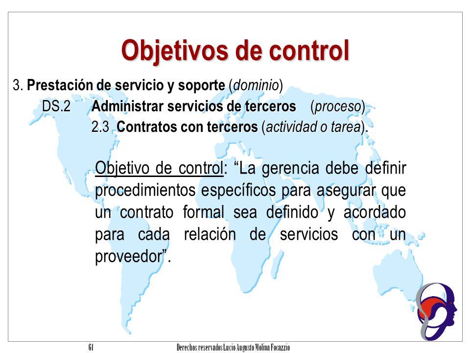 Derechos reservados Lucio Augusto Molina Focazzio 60 Procesos Monitoreo: Monitorear el proceso Obtener aseguramiento independiente Monitoreo: Monitorear el proceso Obtener aseguramiento independiente