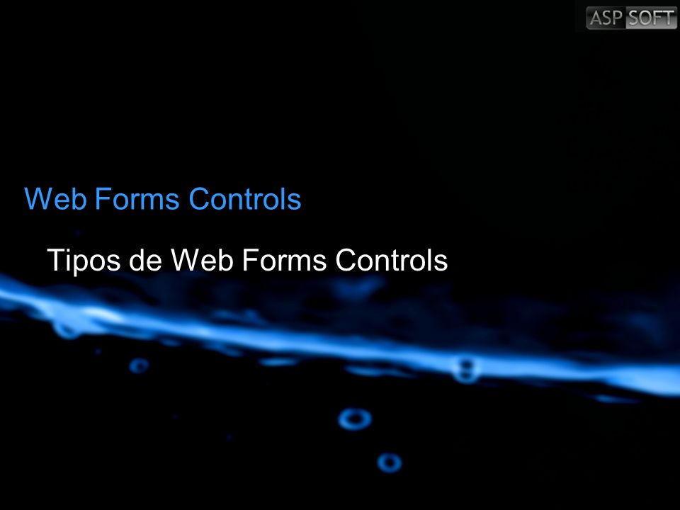 Tipos de Web Forms Controls